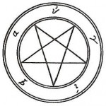 Pentagram of the Greek Pythagoreans, who saw it as reflecting perfect proportions and harmony with itself.